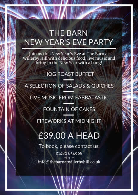 New Year's Eve 2018 - The Barn at Willerby Hill-1